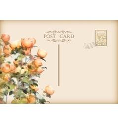 Vintage Floral Postcard vector image vector image