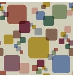 Vintage squares abstract seamless pattern vector image vector image