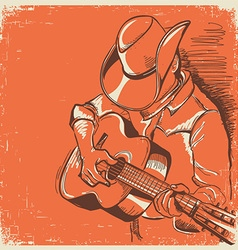 American country music festival with musician vector image
