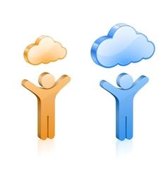 custom cloud hosting vector image vector image