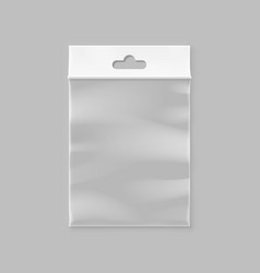 empty transparent zipper bag vector image