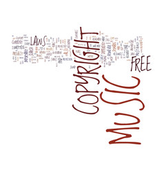 Free copyright music text background word cloud vector