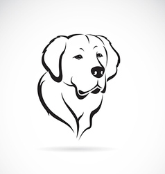 image of golden retriever vector image vector image