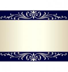 vintage scroll background vector image vector image