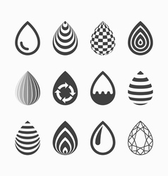 Drop icons vector image vector image