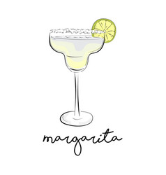 summer cocktail margarita alcohol drink vector image