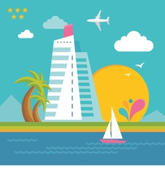 Summer Holiday on the Sea - Creative vector image vector image