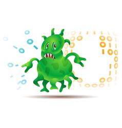 Virus or Microbe vector image vector image