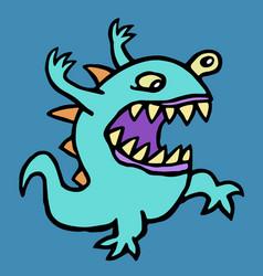 Aggressive cartoon alien vector