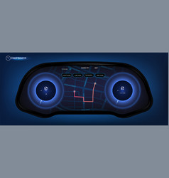 Automotive dashboard in hud style vector