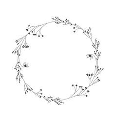 autumn botanical oval frame wreath on white vector image