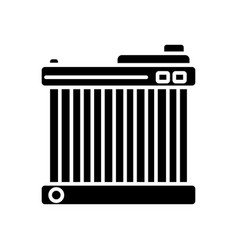 battery car icon black sign vector image