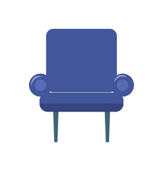 blue armchair on two thin legs vector image