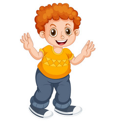 Boy child character on isolated background vector