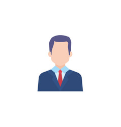 Business man flat style icon vector