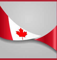 Canadian wavy flag vector