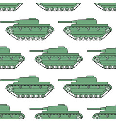 cartoon tank pattern vector image