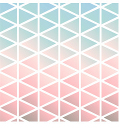 chalky pastel mod triangles composition vector image