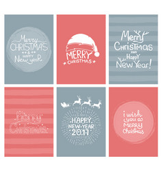 Christmas gift tags and cards with calligraphy vector