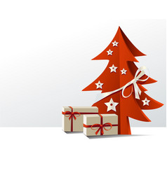 Christmas tree with gifts vector