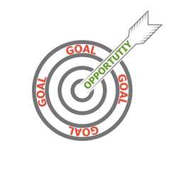 concept achieving goal opportunities opportunity vector image
