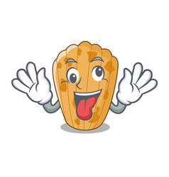 crazy cake madeleine in shape homemade cartoon vector image