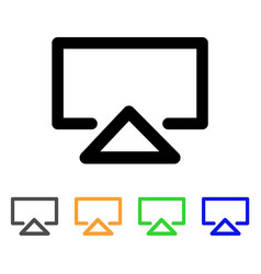 Data entry stroke icon vector