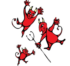 Devils vector image