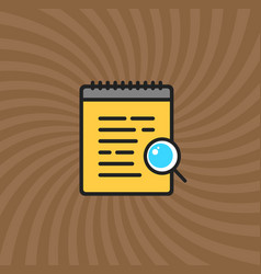 Documents magnifier glass icon simple line vector