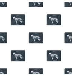 Dog x-ray icon in cartoon style isolated on white vector