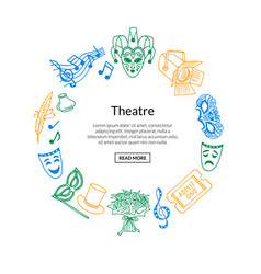 doodle theatre elements vector image
