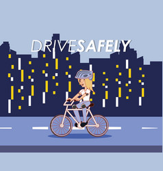 drive safely design vector image