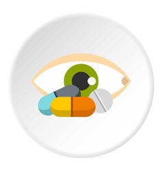 Eye icon circle vector