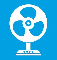 Fan icon white vector