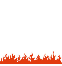 fire and flame graphic design template vector image
