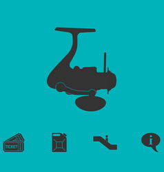 fishing reel icon flat vector image