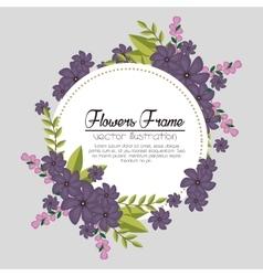 flowers beautiful frame decorative vector image