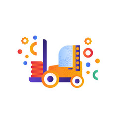 forklift truck warehouse industrial machinery vector image