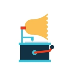 gramophone retro player icon vector image