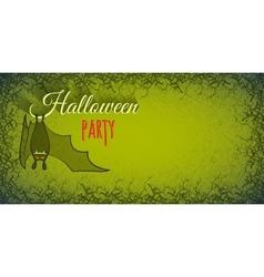 Halloween background with bat vector image