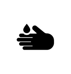 hand washing flat icon vector image