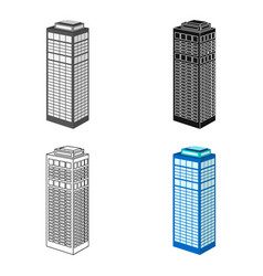 high-rise building of a skyscraper skyscraper vector image