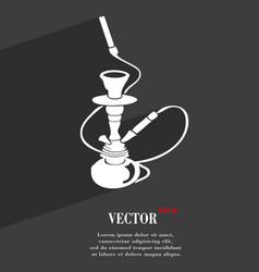 Hookah symbol Flat modern web design with long vector image