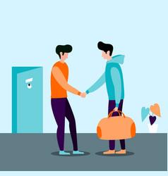 hotel customer service vector image