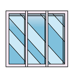 isolated window design vector image