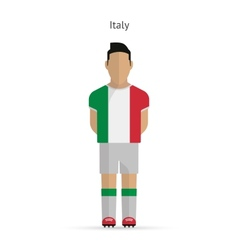 Italy football player Soccer uniform vector