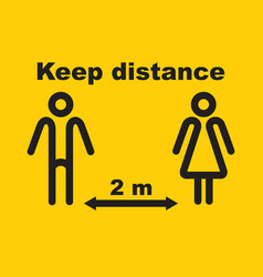 keep distance social vector image