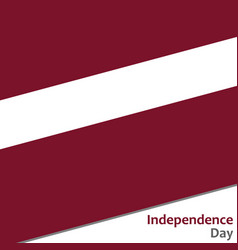 Latvia independence day vector
