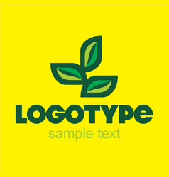 Leaf logo design vector