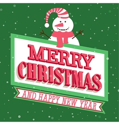Merry Christmas and Happy New Year vector